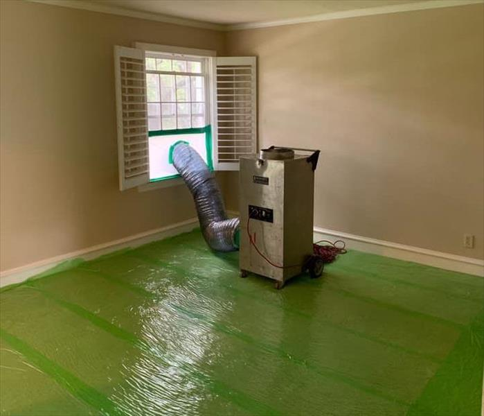Mold Remediation SERVPRO green throughout this mold remediation project!