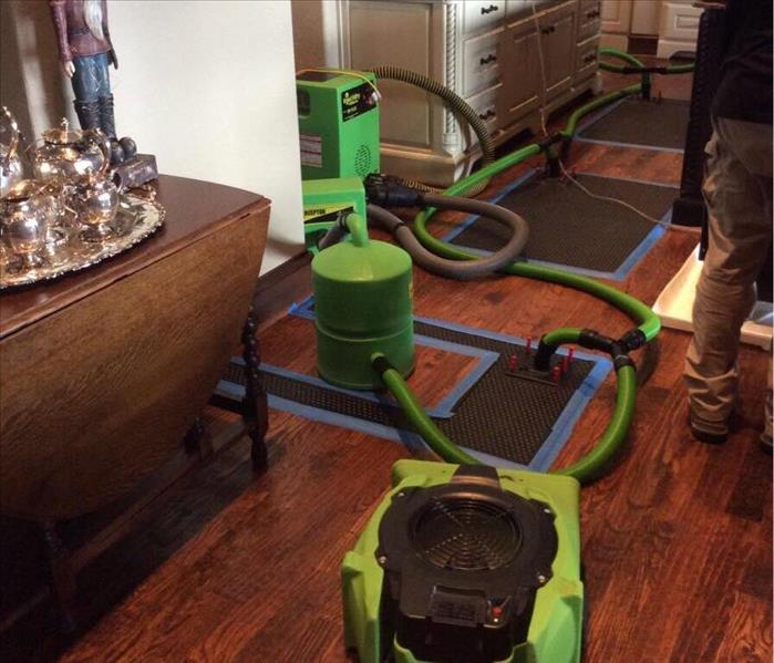 Water Damage Rescue MAT System Needed to Save a Beautiful Hardwood Floor